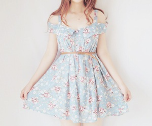 dress, fashion, and floral image