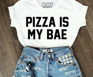 pizza, outfit, and bae image