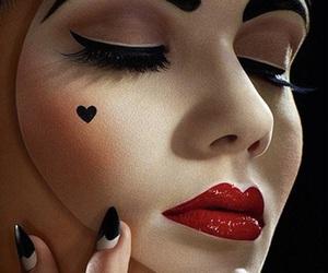 makeup, Halloween, and heart image