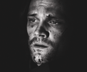 black and white, jared padalecki, and sam winchester image