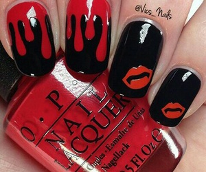 Halloween, nails, and blood image