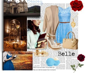 beauty and beast, blue, and disney image
