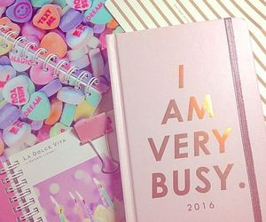 pink, kawaii, and notebook image
