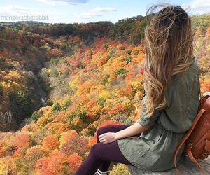 fall, girl, and autumn image