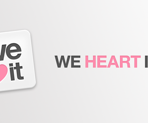 we heart it, heart, and it image