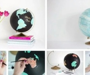diy, globe, and creative image