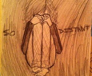 drawing, lonelyness, and tumblr image