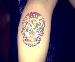 mexican, skull, and tattoo image