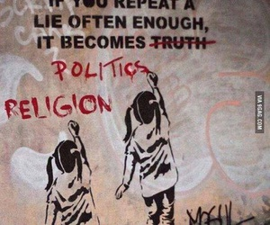 religion, politics, and lies image