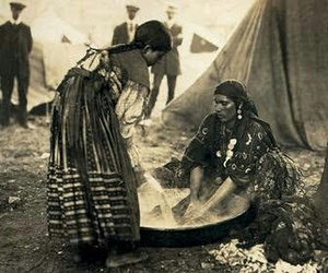 camping, gipsy, and mother and daughter image