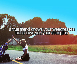 friends, quote, and weakness image