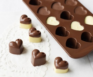 chocolate, heart, and food image
