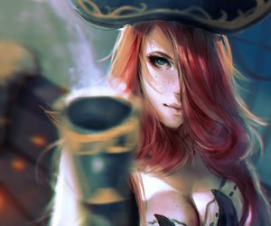 miss fortune, league of legends, and pirate image