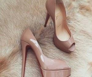 beige, louboutin, and luxury image