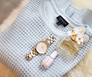fashion, watch, and sweater image