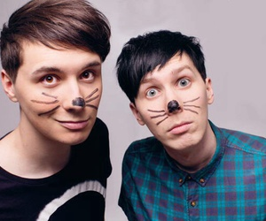 amazingphil, danisnotonfire, and dan and phil image