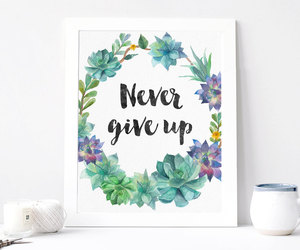 etsy, home decor, and never give up image