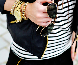 accessories, black and white, and casual image