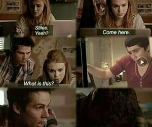 dylan o'brien, lydia martin, and holand roden image