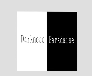 black, white, and Darkness image