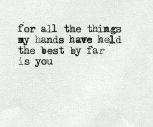 quote, love, and hands image