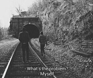 black and white, myself, and sad image