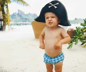 cute, baby, and beach image
