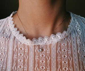 fashion, lace, and necklace image