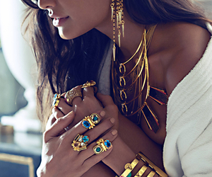 luxury, rings, and gold image