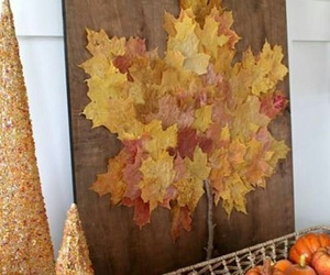 autumn, diy, and leaves image
