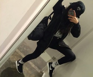 black, girl, and nike image