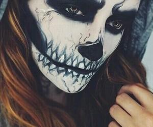 Halloween, makeup, and halloween costume image