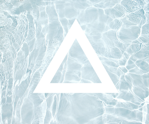 water and triangle image
