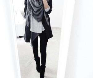 casual, scarf, and chic image