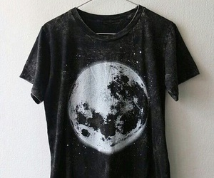 moon, black, and clothes image