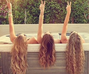 hair, friends, and summer image