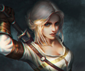 fantasy art and 'the witcher 3' image
