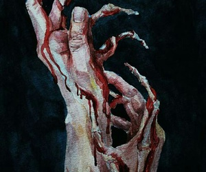 art, blood, and bizarre image