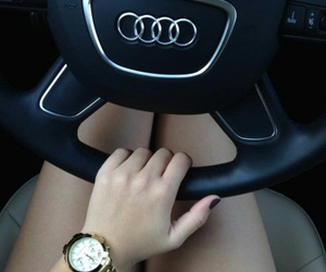girl, audi, and car image