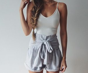 simple, white, and ootd image