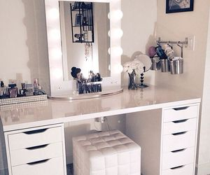 makeup, organizing, and beauty room image