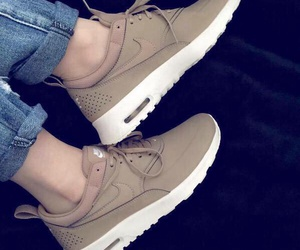 brown, nike, and shoes image