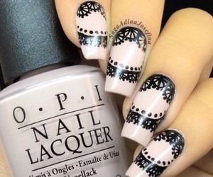nails, opi, and black image