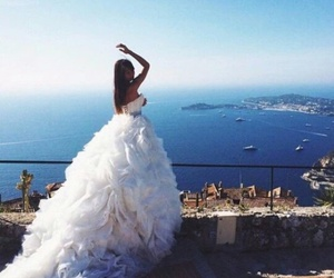 dress, wedding, and amazing image