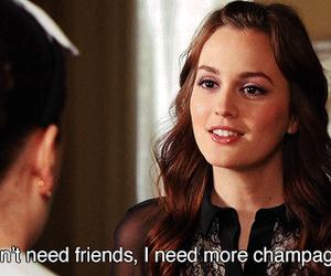 gossip girl, blair waldorf, and champagne image