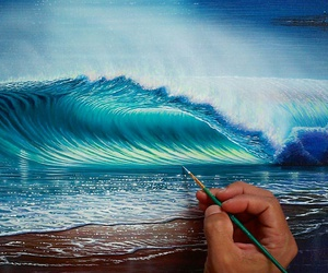 art, beach, and realistic image