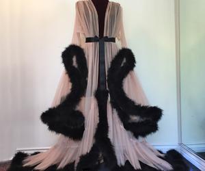 fashion, black, and robe image