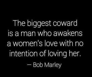 love, coward, and man image
