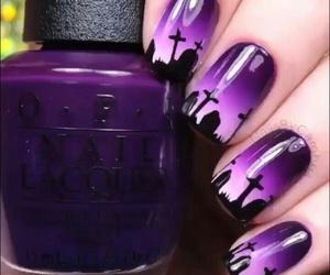 nails, Halloween, and purple image