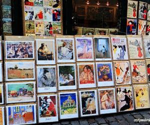 art, paris, and cards image
